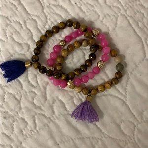 Nordstrom  panacea tassel beaded bracelets